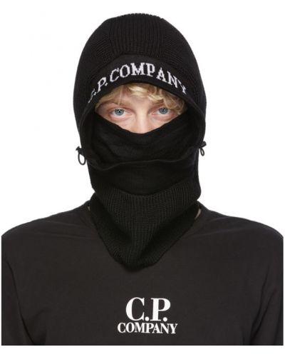 Ze sznurkiem do ściągania czarny wełniany kominiarka C.p. Company