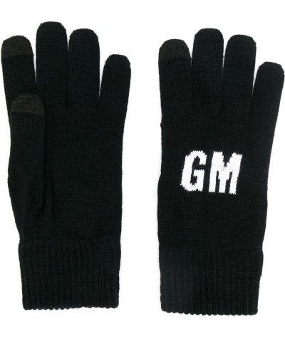 Czarne rękawiczki wełniane Msgm