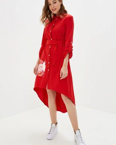 Платье платье-рубашка красный Maria Rybalchenko