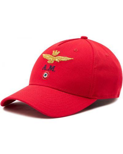 Czerwona czapka z daszkiem Aeronautica Militare