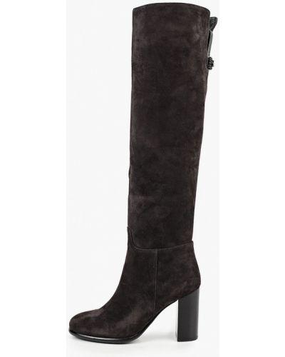 Велюровые серые ботфорты Just Couture