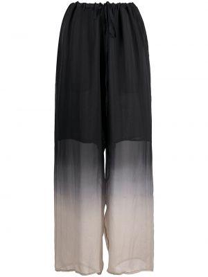Шелковые прямые черные брюки Masnada
