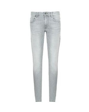 Серые зауженные джинсы-скинни из микрофибры Strellson