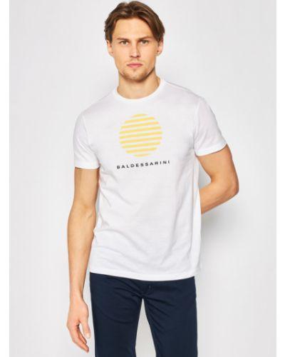 Biała t-shirt Baldessarini