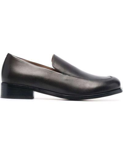 Loafers na obcasie - czarne 12 Storeez