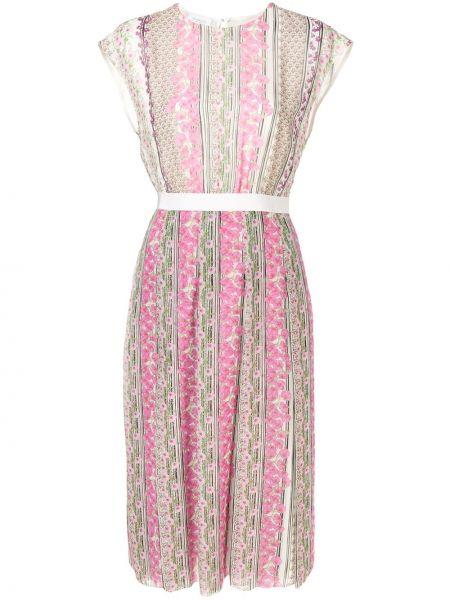 Платье миди розовое на пуговицах Giambattista Valli