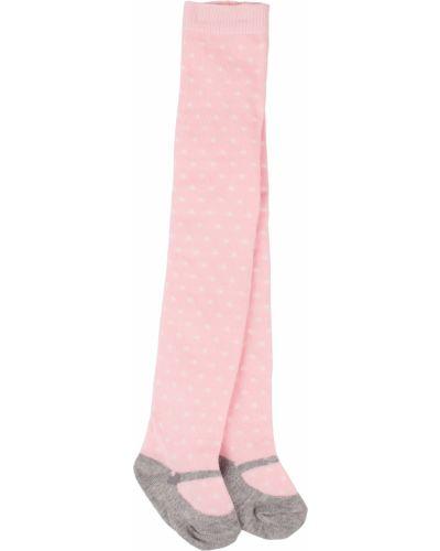 Розовые хлопковые колготки Mayoral