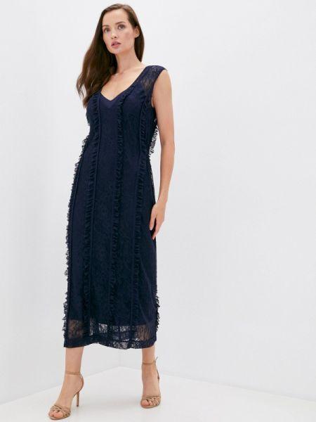 Вечернее синее вечернее платье Laroom