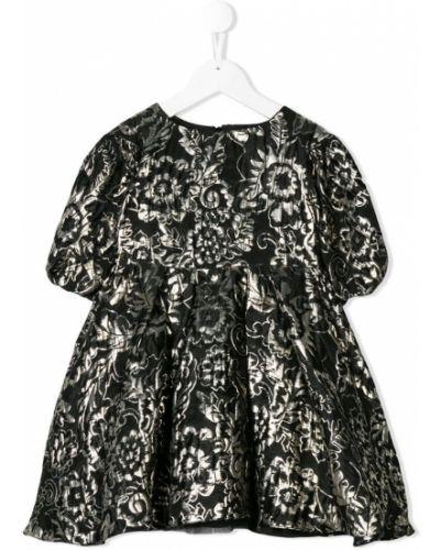 Платье с рукавами черное расклешенное David Charles Kids