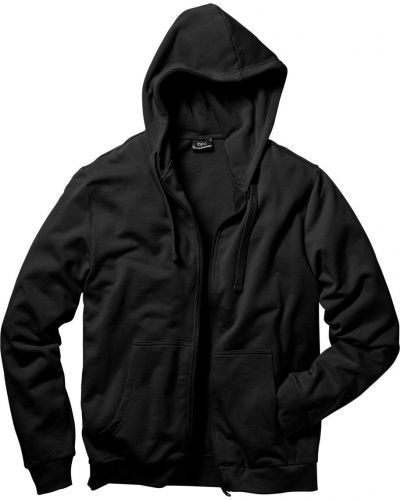 Куртка с капюшоном черная Bonprix