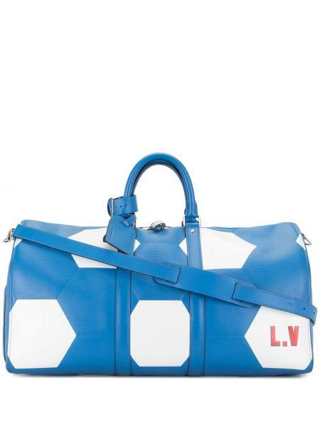 Skórzany z paskiem srebro torba kosmetyczna z łatami Louis Vuitton