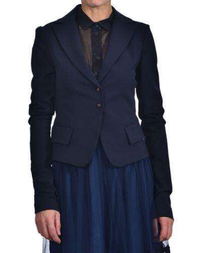 Пиджак шерстяной синий Patrizia Pepe