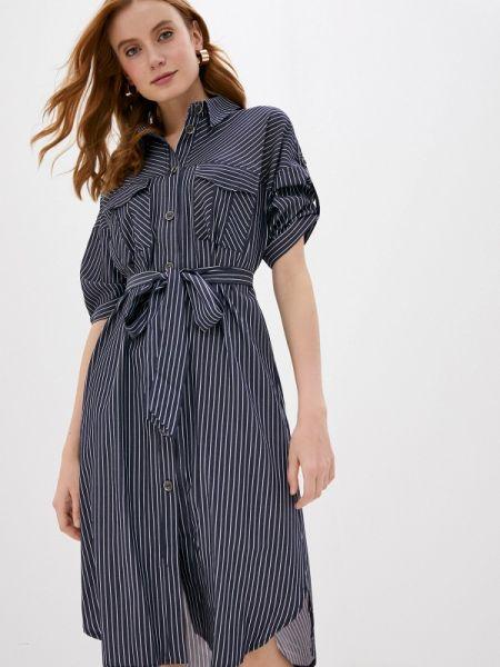 Платье платье-рубашка синее Lamiavita