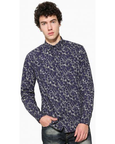 Хлопковая рубашка - синяя Desigual