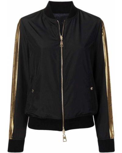 Куртка с карманами черная Versace Collection