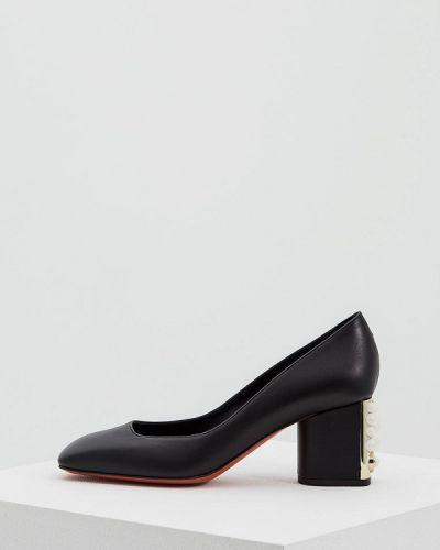 Черные туфли для офиса Baldinini