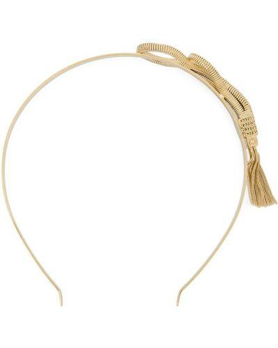 Ободок металлический золотой Prada