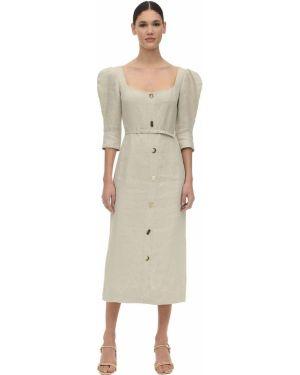 Платье миди на пуговицах с поясом Rejina Pyo
