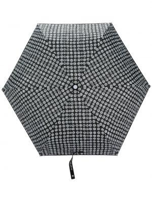Czarny parasol z printem 10 Corso Como