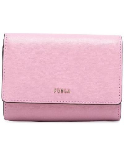 Розовая кожаная портмоне Furla