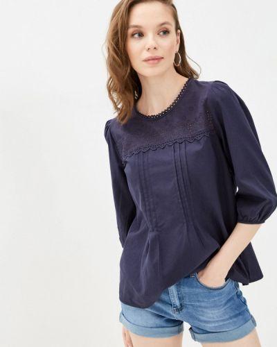 Синяя блузка с короткими рукавами Bruebeck