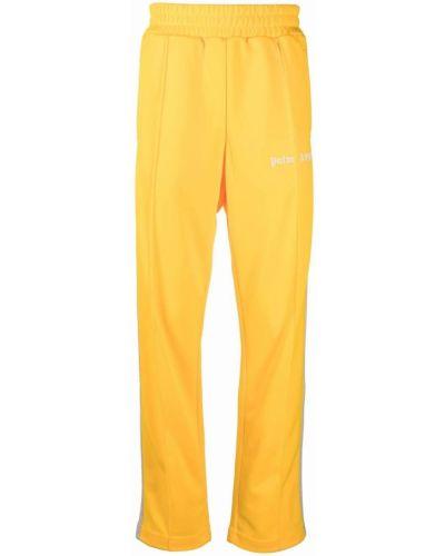Spodnie z printem - żółte Palm Angels
