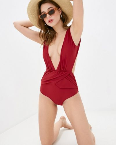 Красный слитный купальник Delice