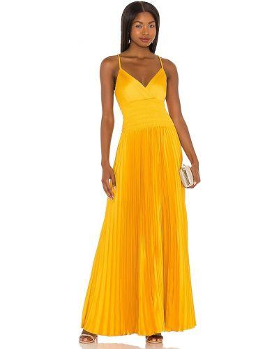 Żółta sukienka długa Bcbgmaxazria