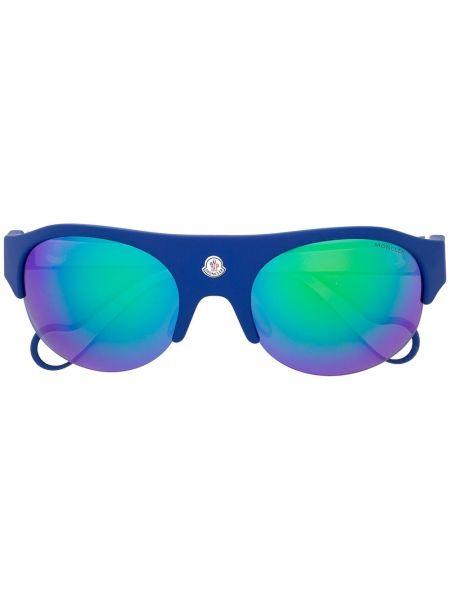 Муслиновые солнцезащитные очки хаки Moncler Eyewear