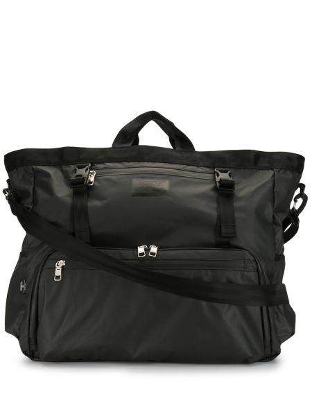 Черная нейлоновая дорожная сумка на молнии с карманами As2ov