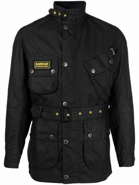 Черная хлопковая куртка Barbour