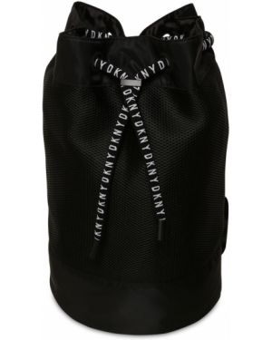 Czarny plecak z siateczką Dkny