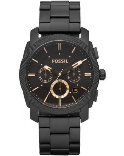 Часы водонепроницаемые серые серебряный Fossil