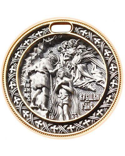 Золотистый черный крест с декоративной отделкой ювелия