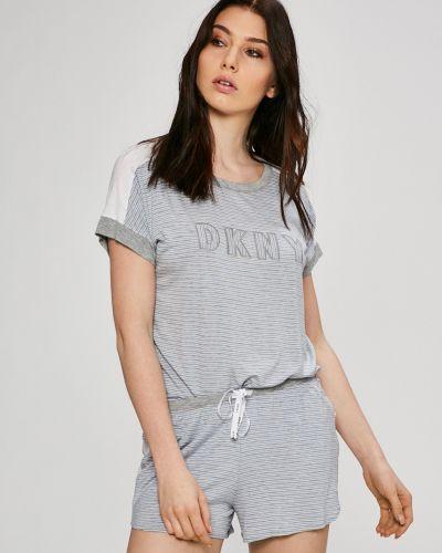 Рубашка с поясом трикотажная Dkny