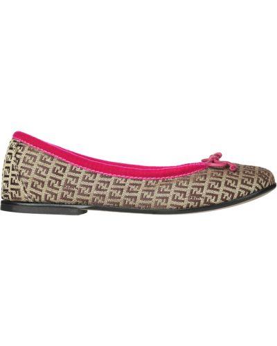 Коричневые ботинки Fendi