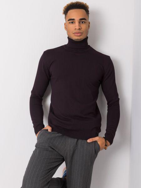 Klasyczny fioletowy sweter z wiskozy Fashionhunters