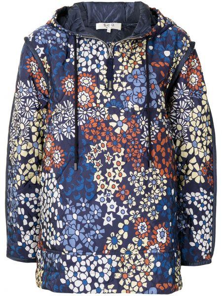 Куртка с капюшоном - синяя Sea