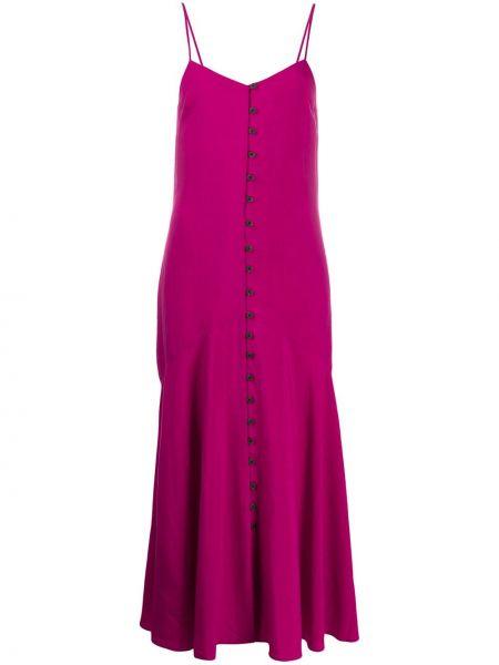 Sukienka rozkloszowana - różowa Mara Hoffman