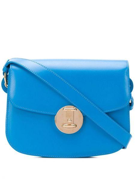 Niebieska torebka skórzana Calvin Klein 205w39nyc