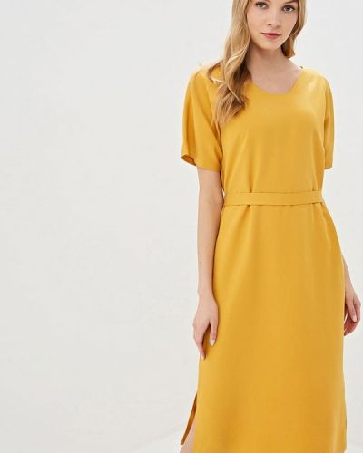 Платье прямое желтый Unq