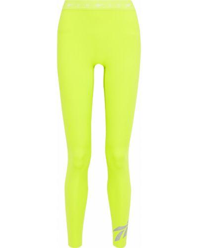 Леггинсы с принтом - зеленые Reebok X Victoria Beckham