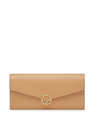 Złoty portfel Fendi