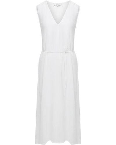 Хлопковое белое платье с подкладкой Vince.
