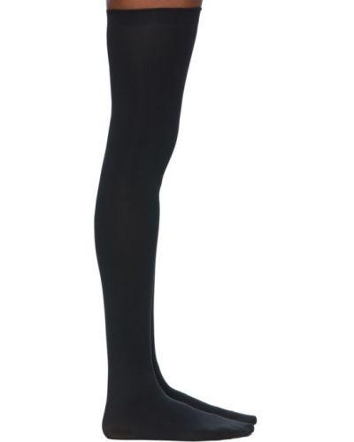 Czarne pończochy z nylonu bezszwowe Wolford