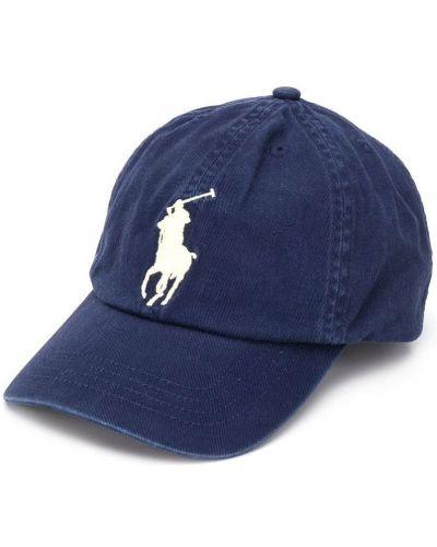 Niebieski kapelusz z printem Ralph Lauren