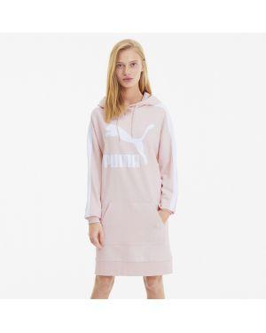Платье макси с капюшоном со вставками Puma
