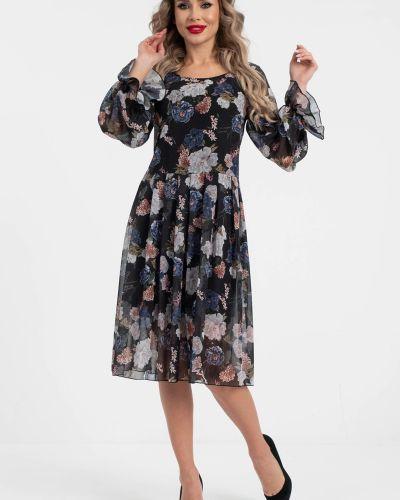 Шифоновое прямое платье с поясом Wisell