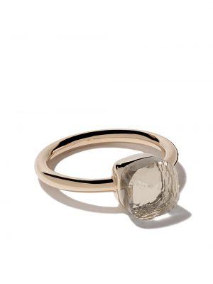 Biały złoty pierścionek do pracy Pomellato