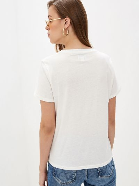 Хлопковая базовая белая футболка Wrangler